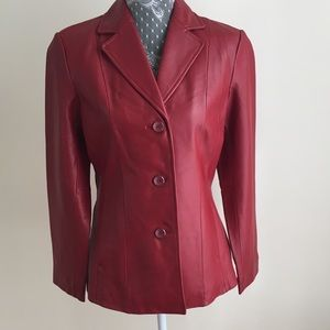 Siena Red Leather Jacket